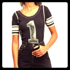 Free People First Place Tee Large Black NWT